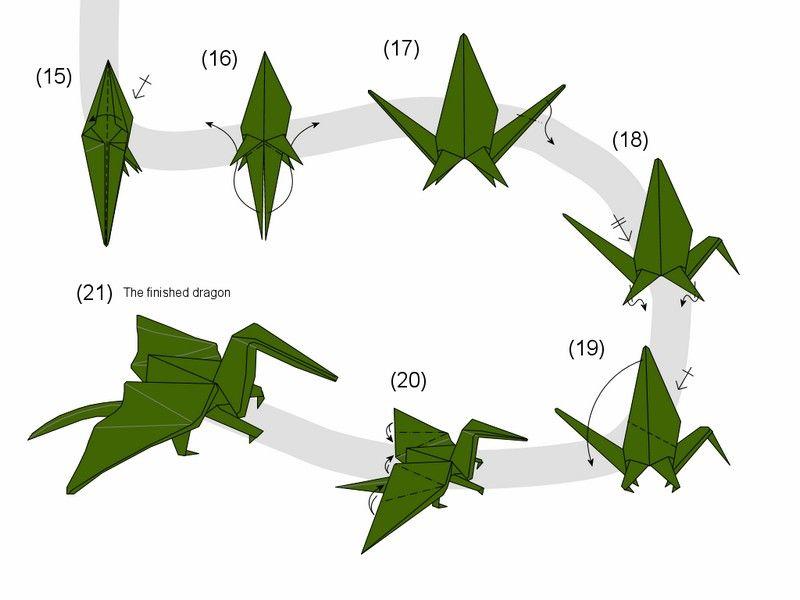 origami drachen basteln falt anleitung origami origami origami drache und origami anleitungen. Black Bedroom Furniture Sets. Home Design Ideas