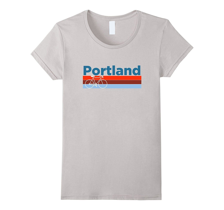 Portland Retro Bicycle & Mountain Bike - Oregon T-Shirt