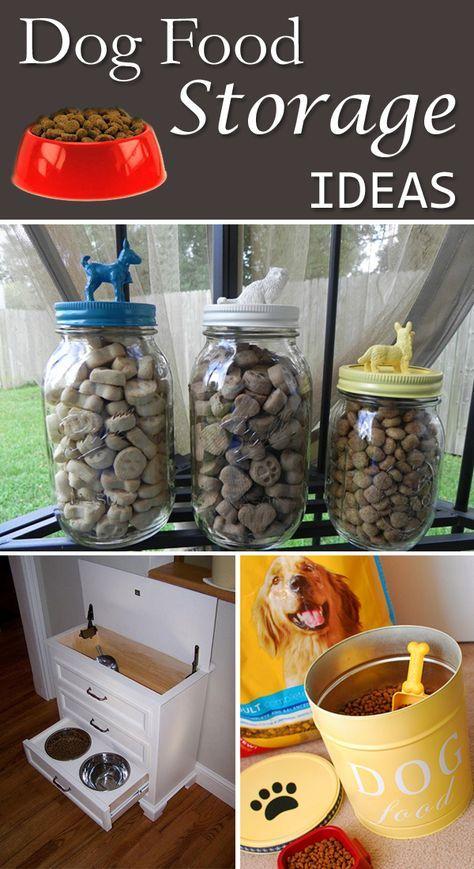 8 Diy Dog Food Storage Ideas Hund Und Mensch Pinterest Dog
