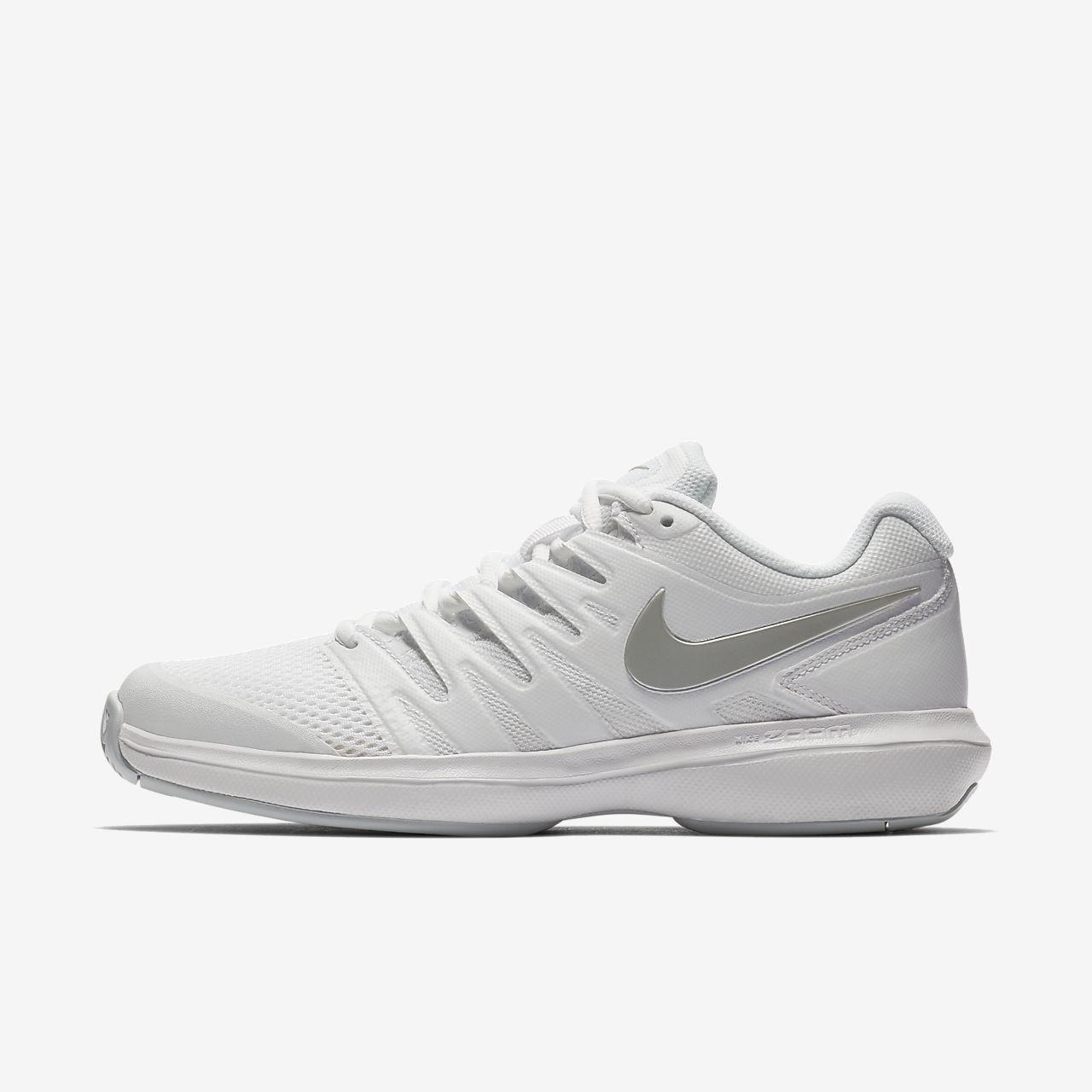 790656a396fb9 Nike Court Air Zoom Prestige Hard Women s Tennis Shoe - 8.5 Silver ...
