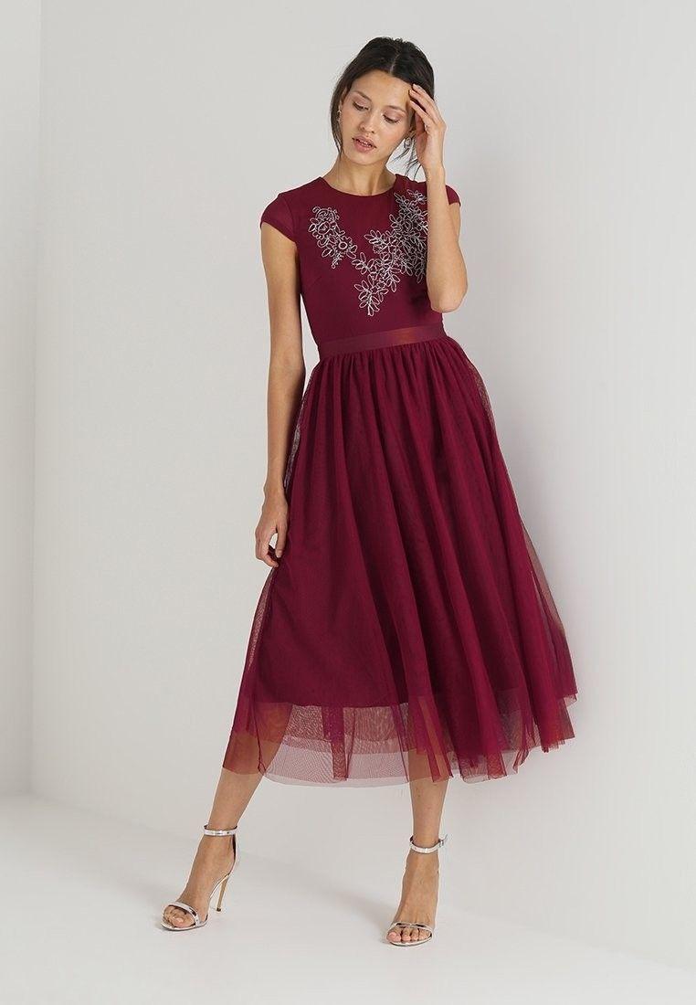 Burgundy farbenes Kleid für Trauzeuginnen  Brautjungfern kleider