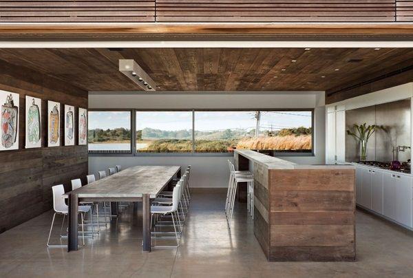 Wooden Dining Space Design Wood Table Kitchen Natural FurnitureLarge FamiliesRoom