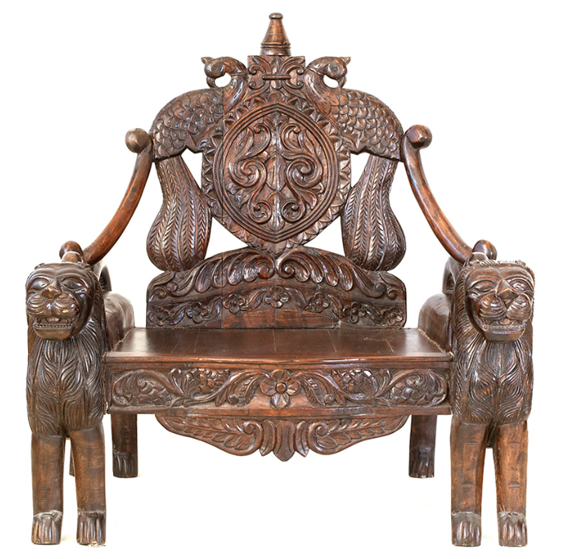 A Lion Throne Fit For A King Buy At Http Bringingitallbackhome Co Uk Shop Indian Furniture Lion Throne Indian Furniture Furniture Antique Chairs