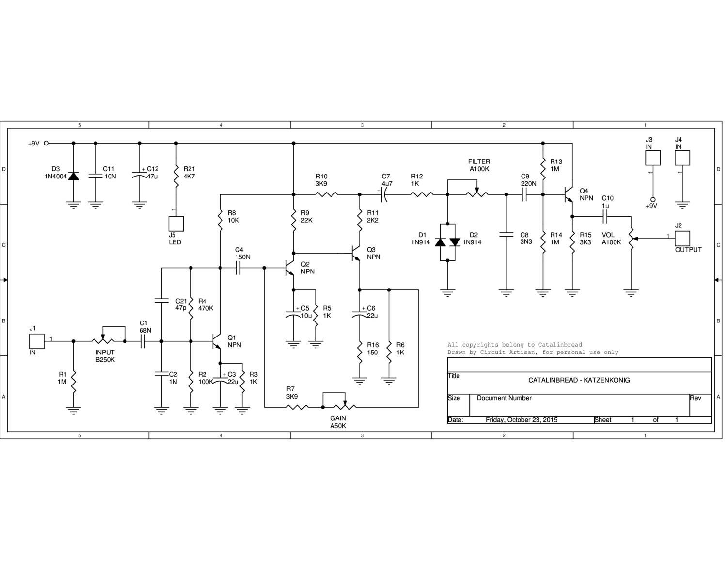Katzenkonig Schematic Pedal Circuits And Finishes In 2018 Re Vero Wah Circuit