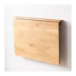 IKEA NORBO Wall Mounted Drop Leaf Folding Hinged Table Birch Natural Wood