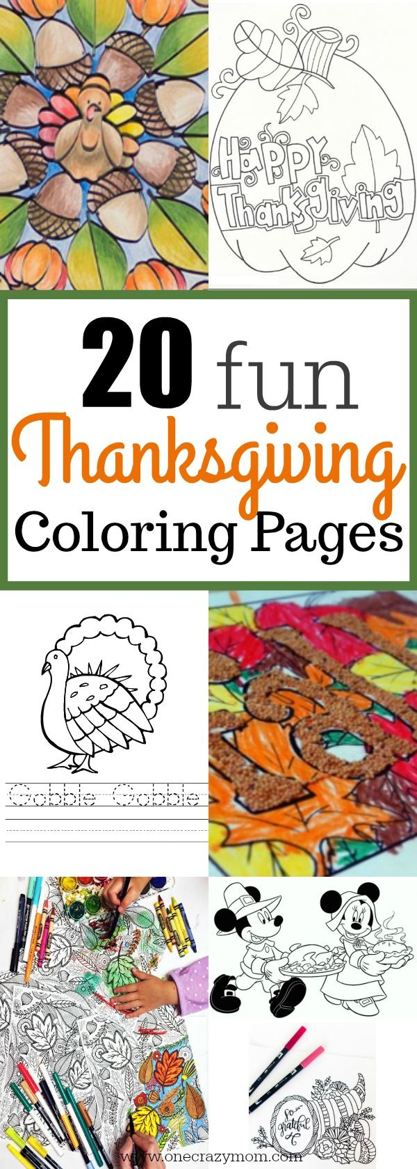 Free Thanksgiving Coloring Pages - 20 Thanksgiving Coloring Pages ...