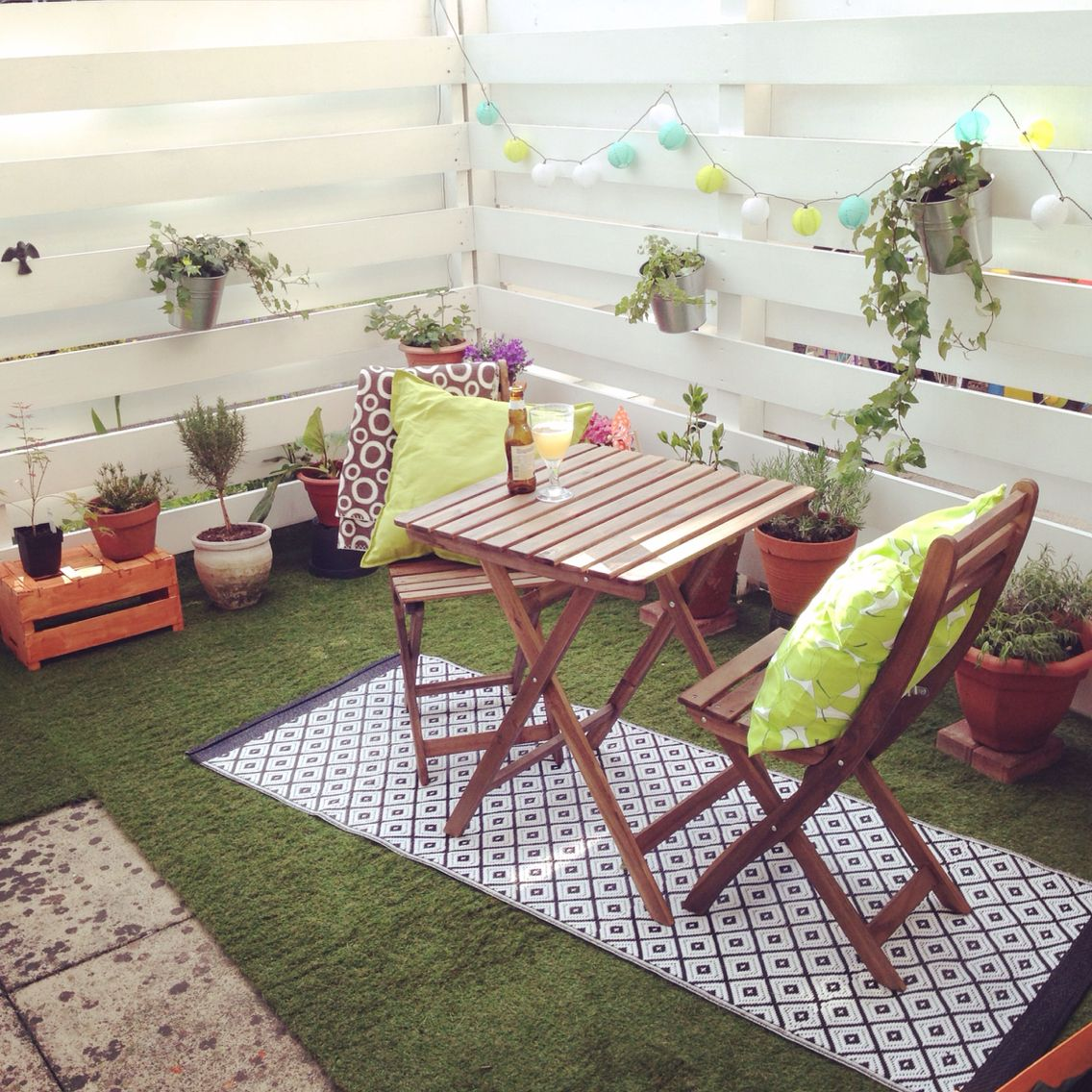 Our New Purchase Artificial Grass For The Patio With Ikea