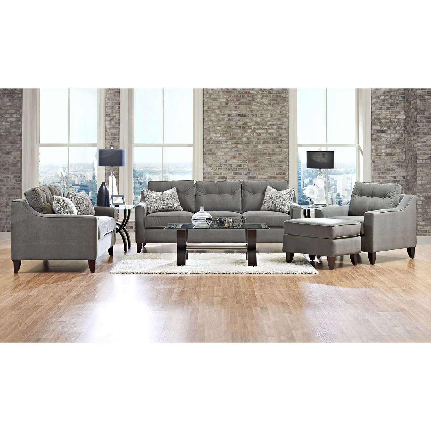 Prestige aaron sofa loveseat chair and ottoman collection sams club