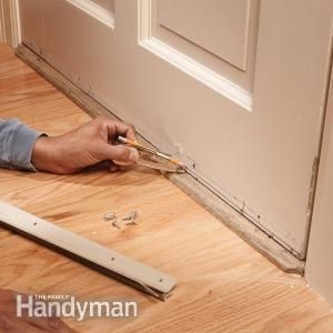 Install A Door Bottom Weather Strip To Wooden Doors For An