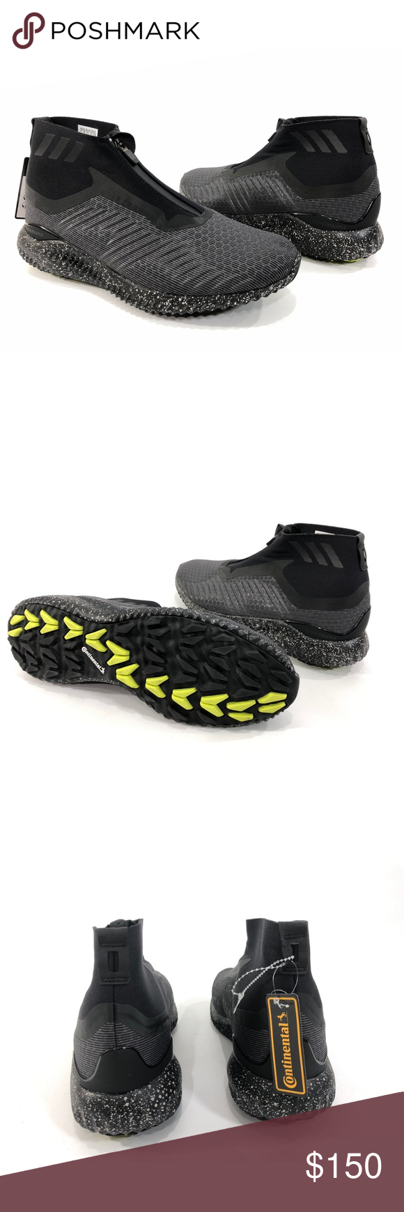 d736cd970 Adidas Alphabounce 5.8 Men s Zip Running Shoes ADIDAS BW1386 adidas  AlphaBounce Men s running shoes Size 10 Black   White High top New without  box 33A911 ...