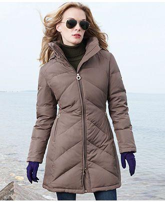 Calvin Klein Pe E Coat Hooded Chevron Quilted Puffer Womens Pe E Coats Macys