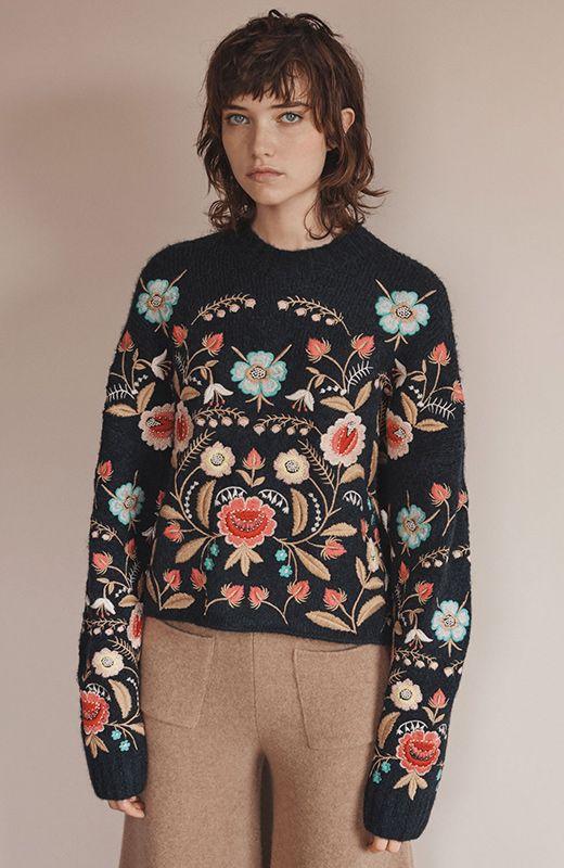Jersey floral: Victoria Beckham Vs. Zara   En tu tienda me