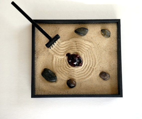 Zen Garden with Buddha Statue Buddha Decor Tray - Buddha Figurine Office Desk Accessories Buddha Gif #buddhadecor