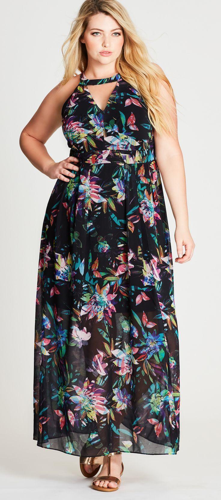 Plus size maxi dress summer plus size fashion favorites