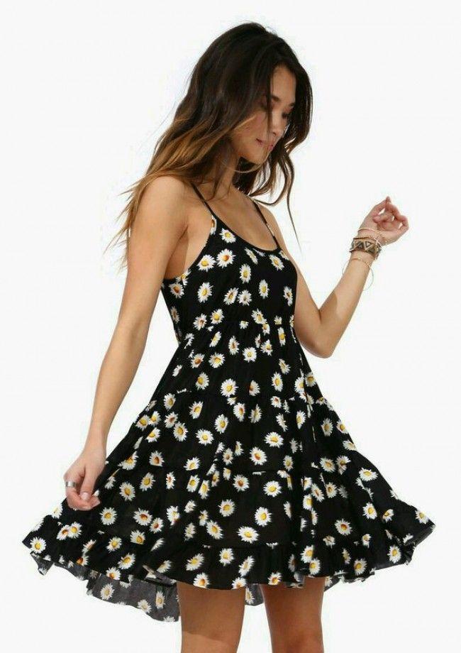 Black Daisy Dress