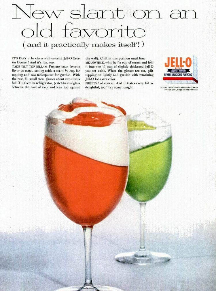 How Long Does It Take To Make Jello See A Chart Classic Food Vintage Recipes How To Make