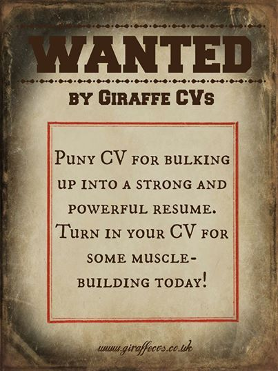 FREE #CV reviews at enquiries@giraffecvsuk Giraffe CVs - resume building services