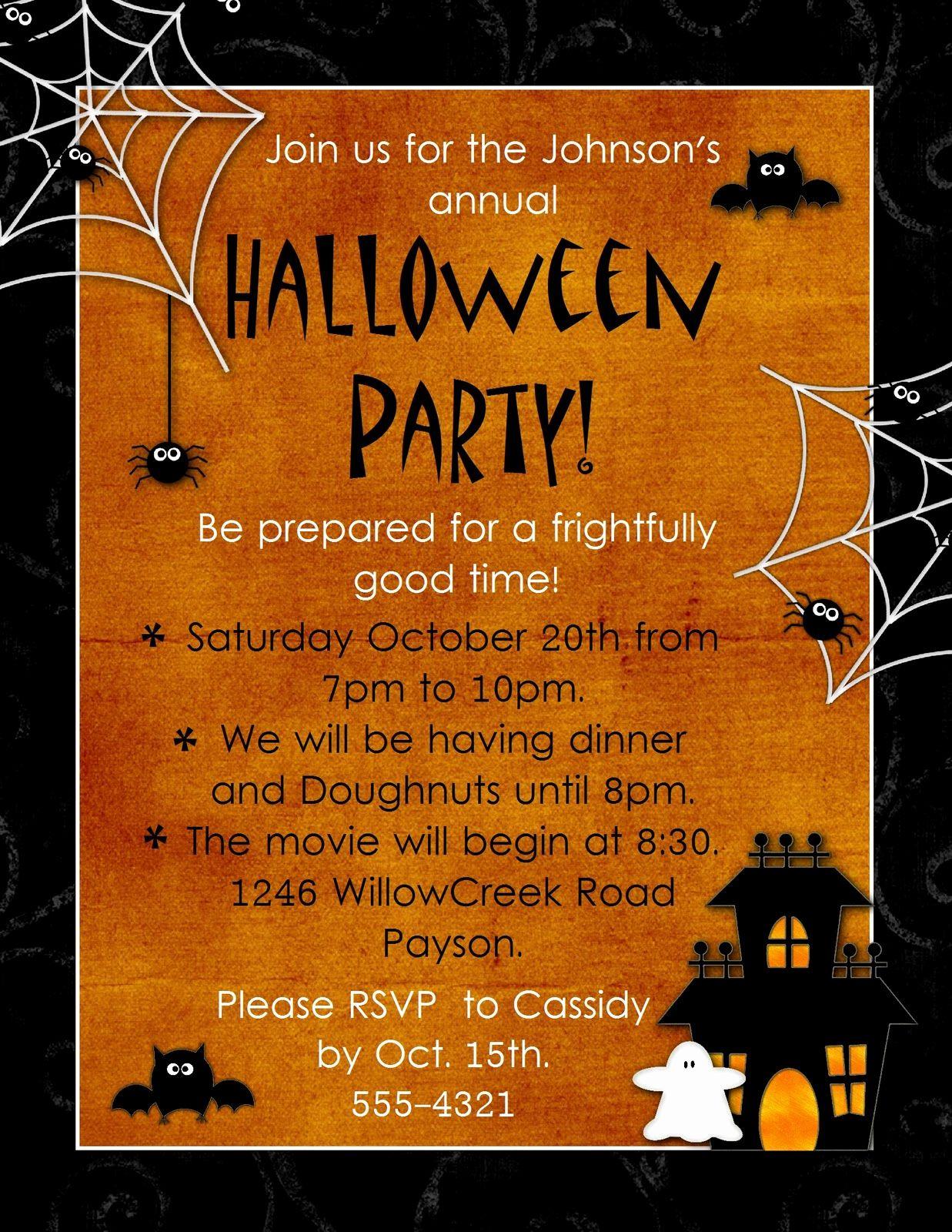 Free Halloween Party Invitation Templates Inspirational Geneawebinar Halloween Party Invitation Template Party Invite Template Free Halloween Party Invitations