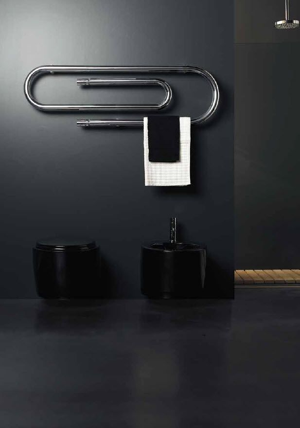 This Giant Paper Clip Is Also A Heater Amp Towel Bar For