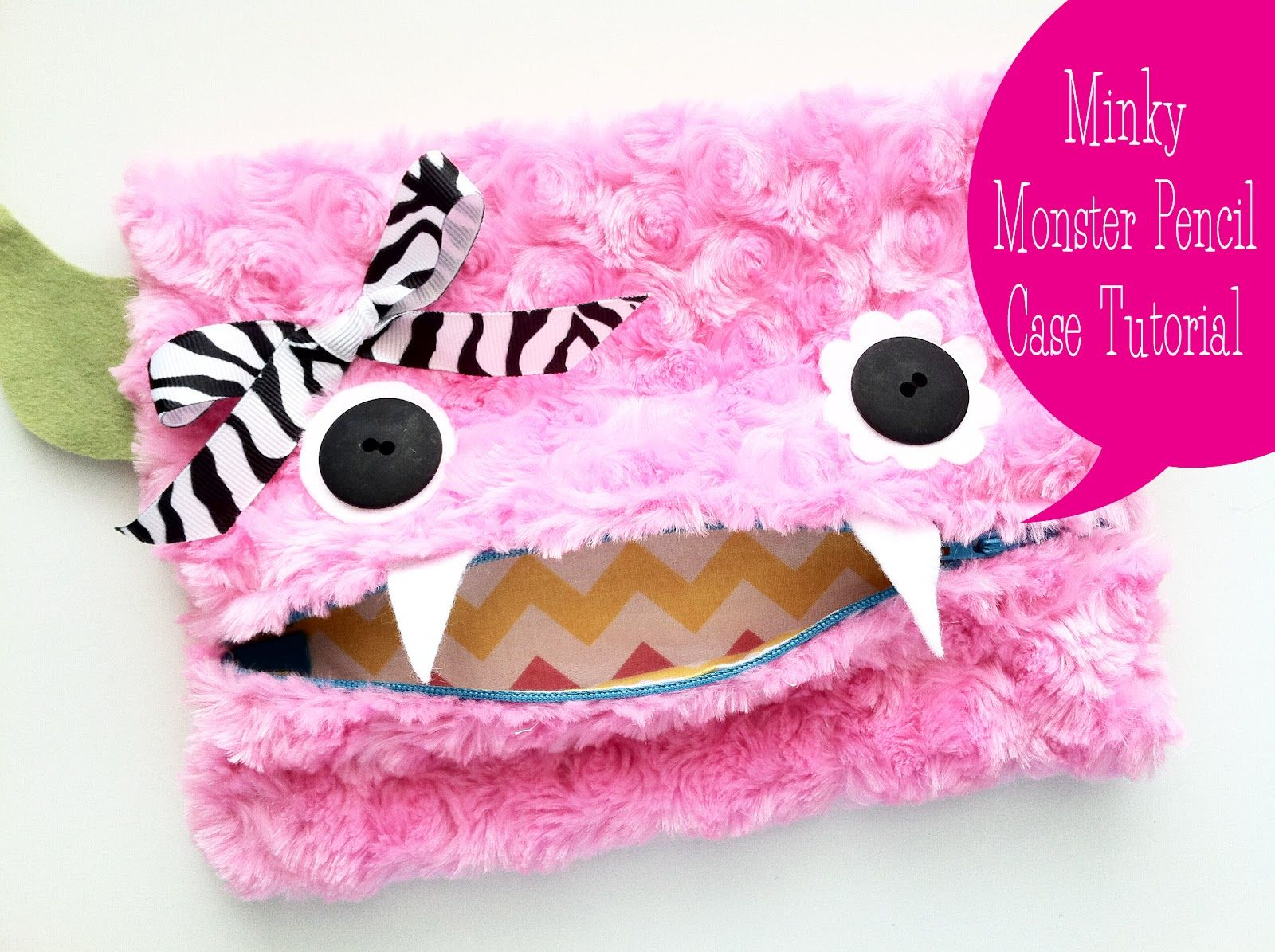 Monster Pencil Case tutorial -- this was really easy and quick.