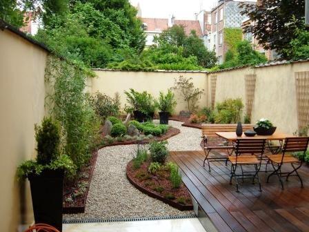 dcoration terrasse jardin gravier - Decorer Une Terrasse Avec Des Plantes