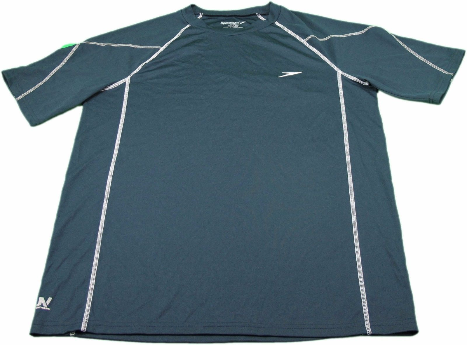 Speedo Men's Medium Polyester Athletic Shirt, Navy