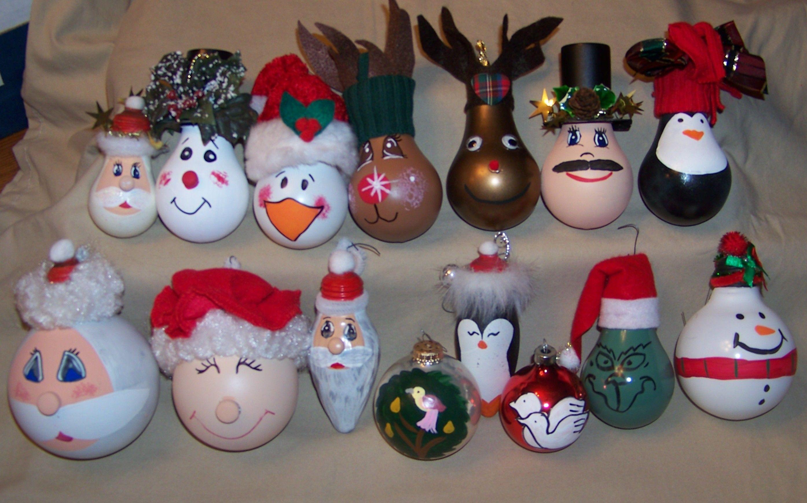 More Light Bulb Christmas Ornaments Light It Up Christbaumschmuck Weihnachtskugeln Weihnachten