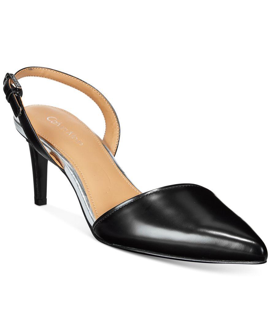 Calvin Klein Clarissa Slingback Pumps Products Pinterest Clarette Sneakers Black