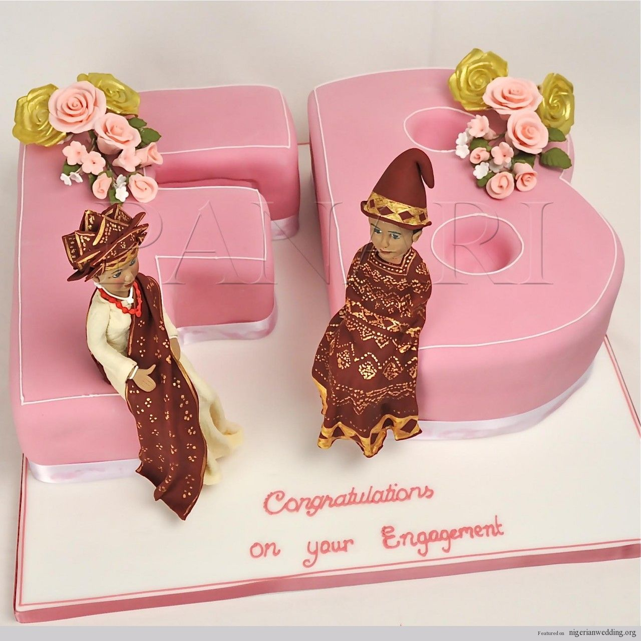 Nigerian traditional wedding decor ideas  Beautiful u Colorful Nigerian Traditional Engagement Wedding Cake
