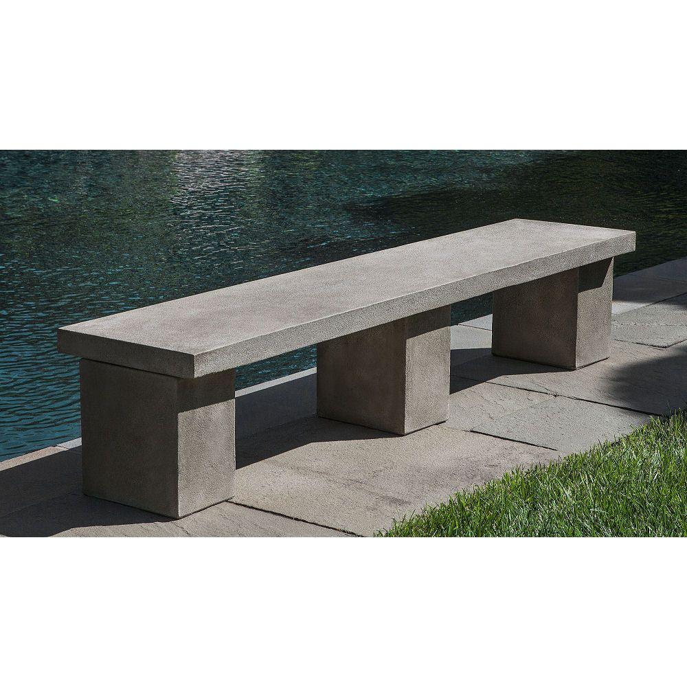 Biscayne Outdoor Garden Bench Stylish Minimalist Modern Outdoor
