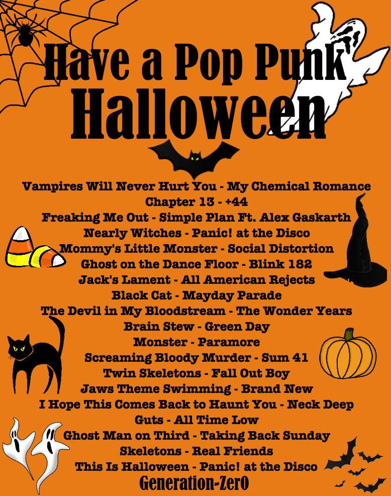 Halloween Music Playlist.Generation Zer0 A Spooky Pop Punk Playlist Listen Here