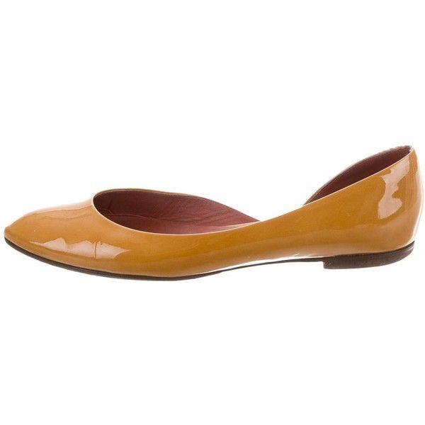 Bottega Veneta Patent Leather D'Orsay Flats factory outlet ebay sale online mw13Nn