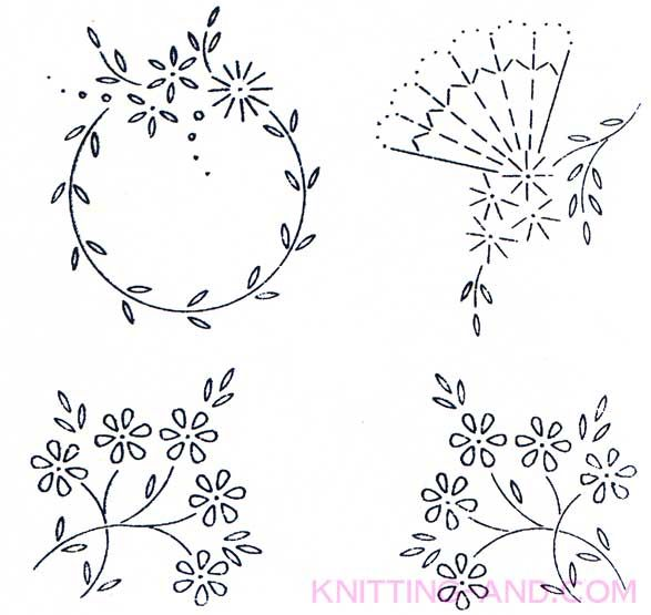 Free Embroidery Pattern Small Lazy Daisy Stitch Patterns