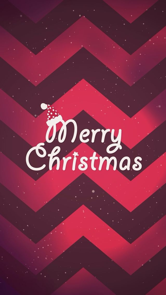 Merry Christmas Red Pattern iPhone Wallpaper