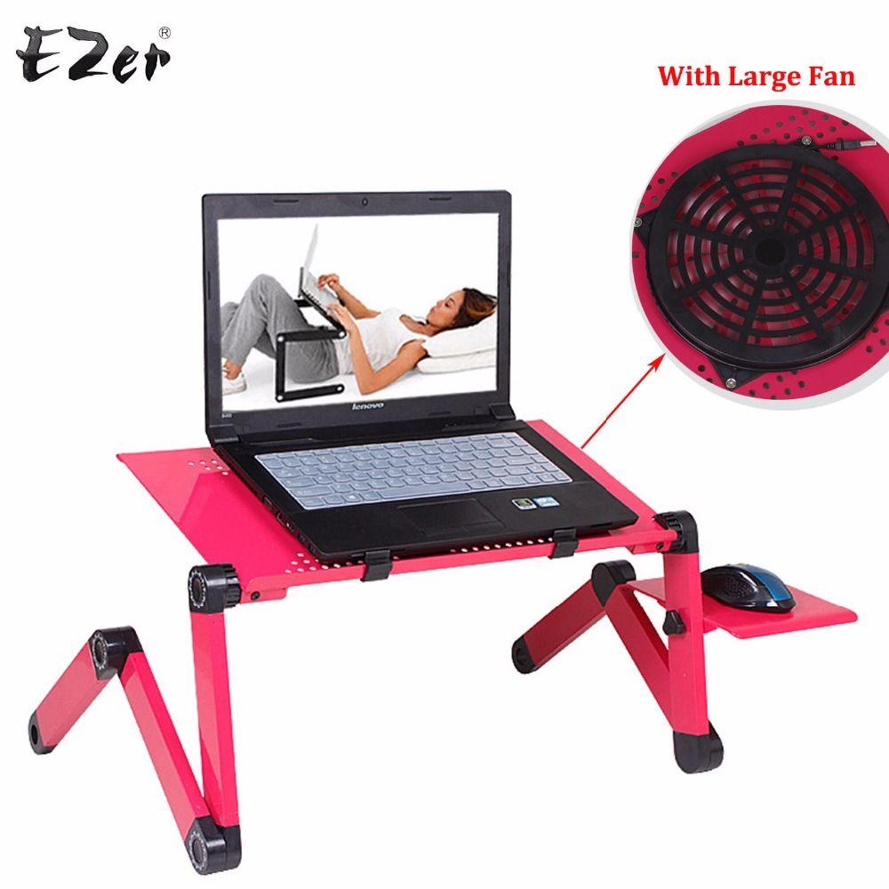 Einstellbar Tragbare Laptop Tischständer Runde Sofa Bett Tablett Computer Notebook Schreibtisch Tisch Mit Maus Bord