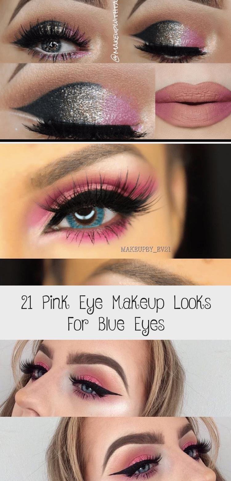 Photo of 21 Pink Eye Makeup sucht nach blauen Augen – Augen Makeup –  Pink Eye Makeup suc…