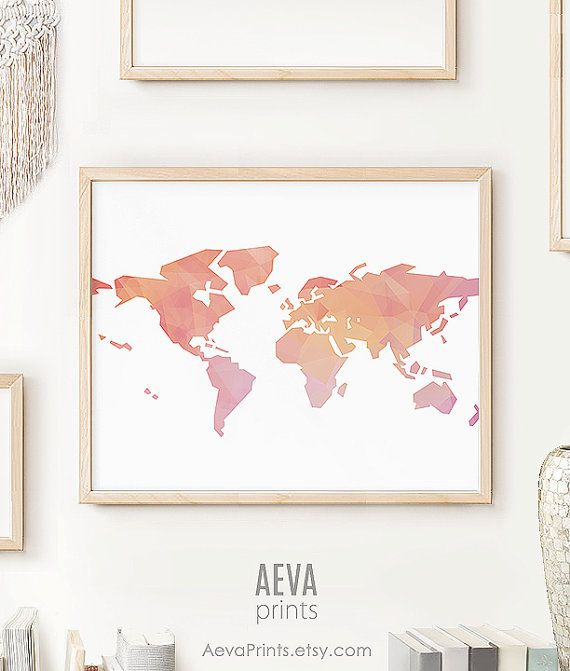 Map printable map of the world maps world map artwork pink map map printable map of the world maps world map artwork pink map globe art map wall art maps as art travel map world map print coral gumiabroncs Image collections