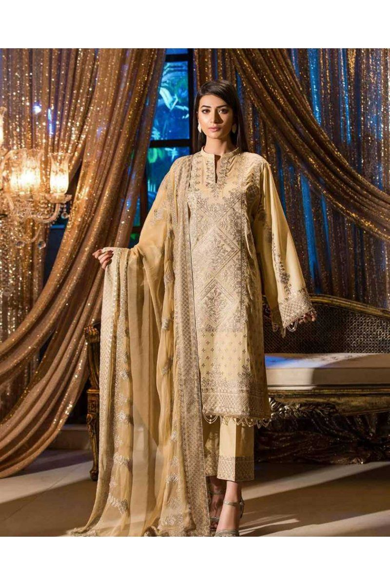 926ce5eba3 Johra Gold Swiss Voile Embroidered JH-08A https://www.meemfashions.