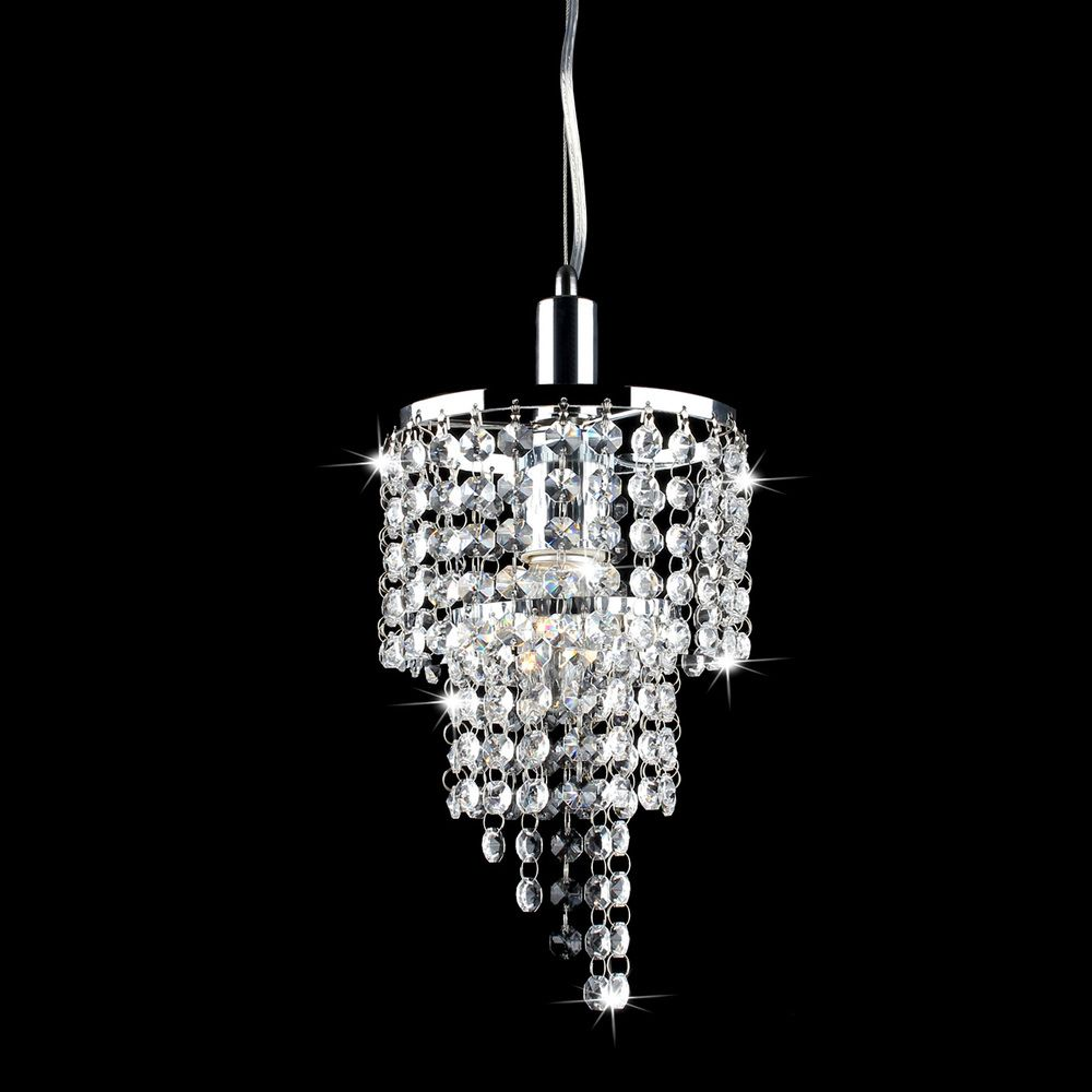 Two Mini Chandeliers Over Island- Galina Crystal And