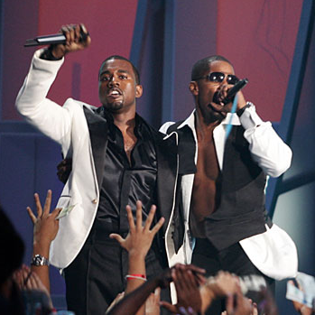 Kanye West And Jamie Foxx Performing At The 2005 Vmas Video Music Awards Live Photo Mtv
