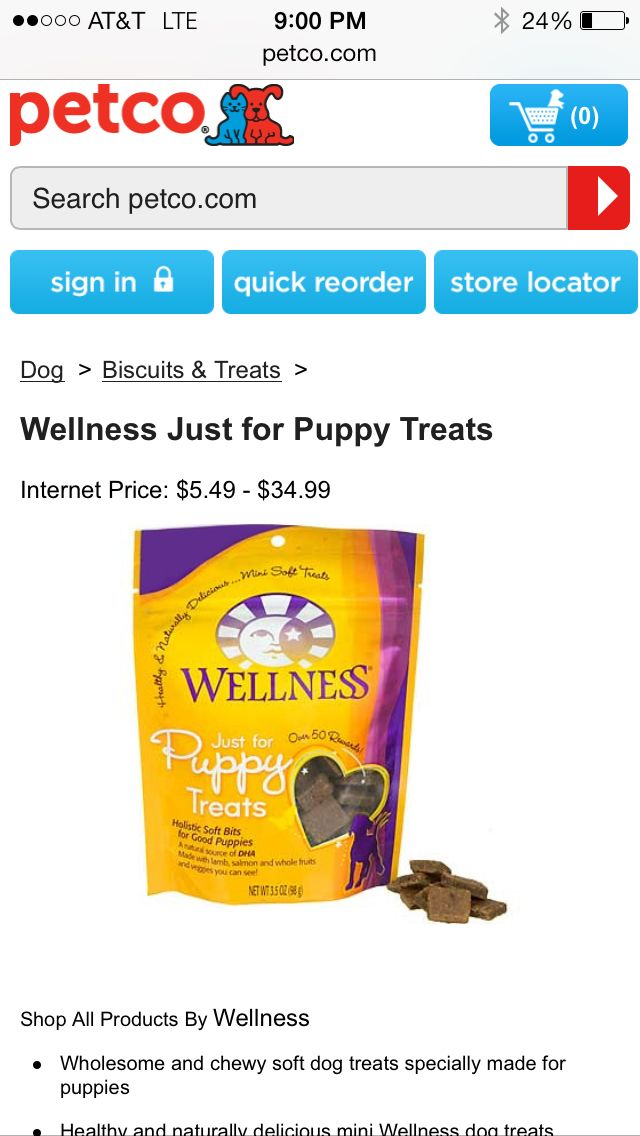 Petco Puppy treats, Dog biscuits, prices