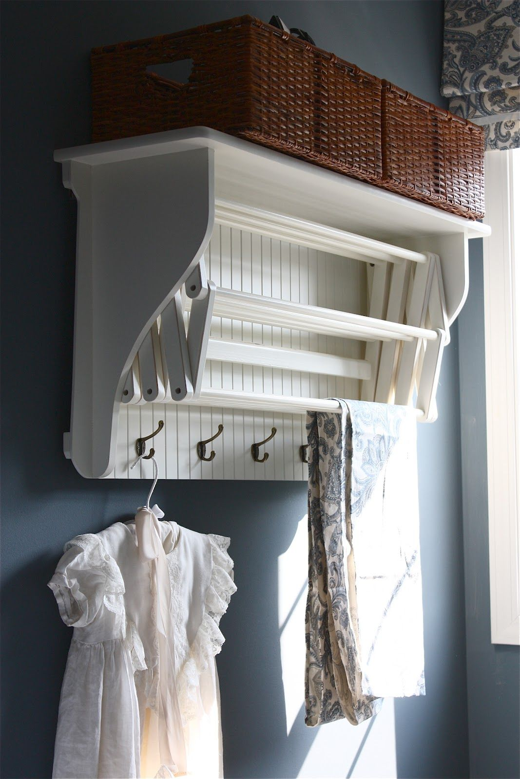Drying rack pulls out home improvements pinterest laundry room