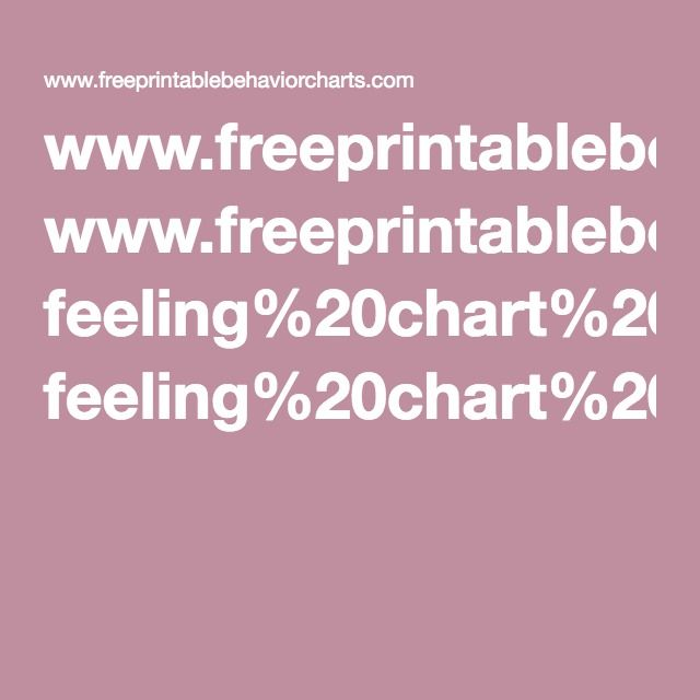 WwwFreeprintablebehaviorchartsCom FeelingChartPdf Feeling