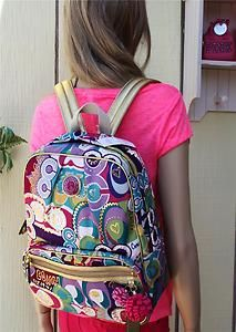 12458f7b471 Coach Poppy Multicolor Backpack Signature Multicolor Gold Pop C 19432 $298  | eBay