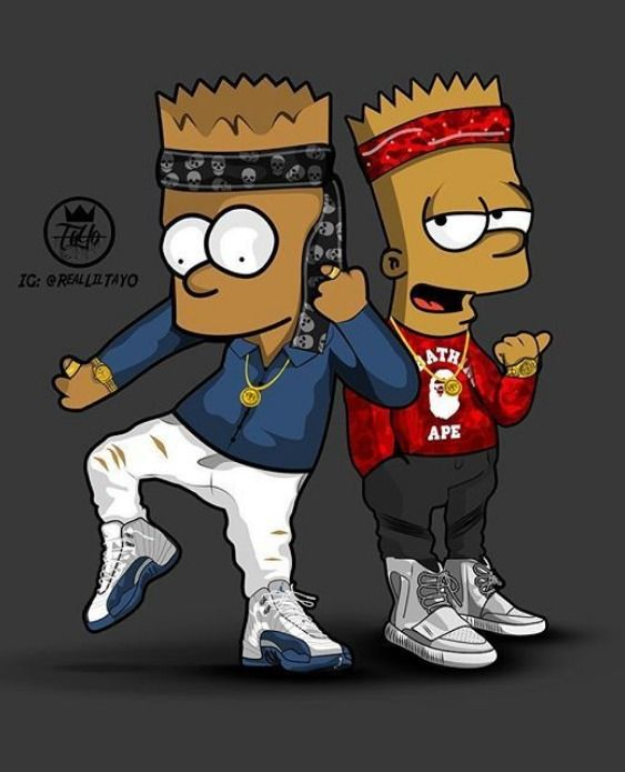 Bart Simpson Gangster Wallpaper : simpson, gangster, wallpaper, Simpdon, Family, Simpson, Simpsons, Drawings