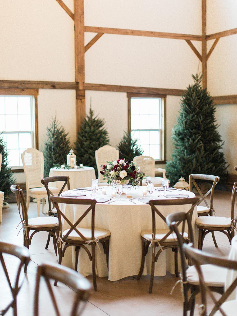 Winter Sunrise Wedding with an Evergreen Brunch Reception ⋆ Ruffled, #BRUNCH #evergreen #Reception #Ruffled #Sunrise #Wedding #Winter