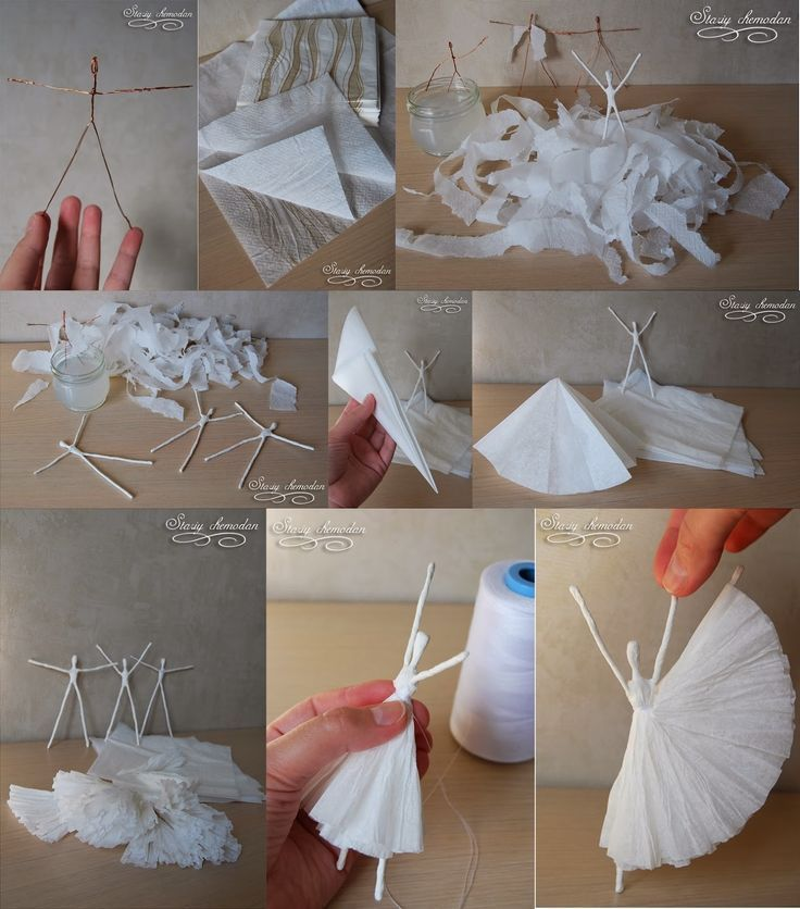 DIY Paper Napkins Ballerinas - DIY Craft Projects,  #Ballerinas #Craft #DIY #Napkins #Paper #...