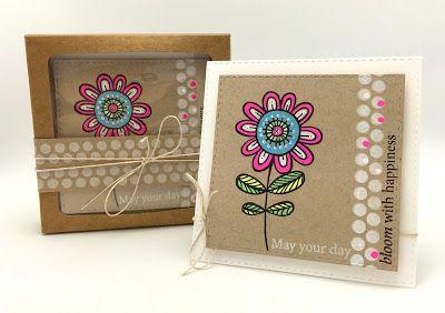 SRM Stickers Blog - Guest Designer:  Kathy Racoosin - #cards, #minicards #janesdoodles #stamps #twine #kraftwindowbox #cardset #gift  #chalkboard #chalkboardmarkers