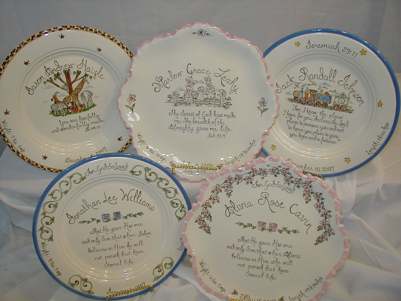 Personalized Baby Plates with birth info and scripture. Precious! : personalised baby plate set - Pezcame.Com