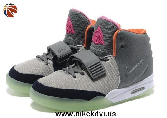 Cheap Nike Air Yeezy II Gray Orange Men Shoes